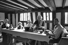 Typical Lunch Time meal in the Tudor times in Mary Ardens working farm house (Explored) (Bogger3. Slowly coming back) Tags: kitchen noflash tudor mealtime workingfarm bedrooms periodcostume maryardenshouse canon600d