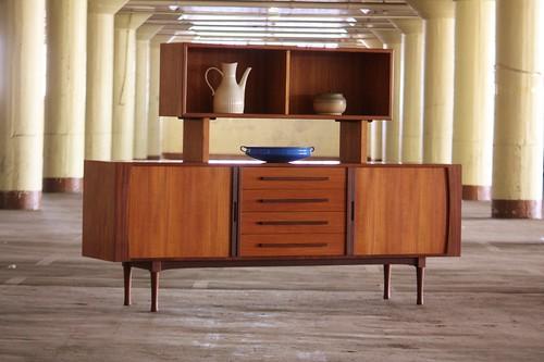 Scintillating Midcentury Modern Teak and Rosewood Tambour Door ... on floating tv stand modern, floating shelves modern, floating desk modern,