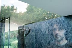 Mies (La T / Tiziana Nanni) Tags: barcelona travel portrait man reflection portraits reflections luca miesvanderrohe ritratti ritratto architettura barcellona manportrait iamyou tizianananni