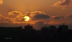 DSC_9092 (world's views) Tags: sunset sun portugal silhouette buildings porto gaia 2014