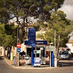 Fuel Corner (speedmatters) Tags: street city tourism square spain village traffic spanish mallorca vacations fuel baleares petrolstation motoring