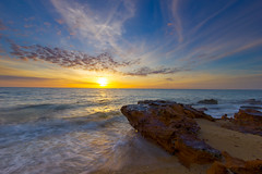Black Rock Sunset (Aristotle Jonas Tanag Photography) Tags: sunset seascape canon australia victoria filter hdr 06nd