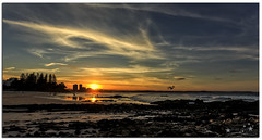 Sunset in Paradise (Brett Huch Photography) Tags: ocean sunset sea sky seascape reflection beach nature water reflections surf waves seascapes australia qld queensland aussie coolangatta goldcoast snapperrocks wavesbreaking