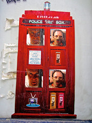 D7606, London, UK (Robby Virus) Tags: street city uk greatbritain england london art english public collage call unitedkingdom box britain police silence anthony lambs british hopkins hannibal lecter d7606