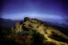 Eagle Rock, Topanga Canyon (Culture Shlock) Tags: mountains landscape climb landscapes hiking hike digitalpainting santamonicamountains eaglerock topangacanyon