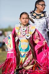 Native American Indian Girl (Ben-ah) Tags: people girl dance indian feather bead ribbon shawl festivity nativeamericanindian americanindian indigenous powwow redhawk gatewaytonations