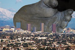 Planet of the apes (maselko69) Tags: city people macro animals giant foot gorilla god tiny ape crush