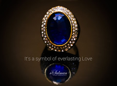 Ring (hisalman) Tags: blue reflection stone photography dubai ring diamond pearl