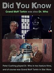 Grand Moff Tarkin was also Dr. Who (KAZVorpal) Tags: starwars anewhope episode 4 iv tarkin grandmoff doctorwho drwho petercushing firstdoctor movie dalek film darthvader deathstar georgelucas lucas skywalker dalen 1965