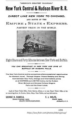 Empire State Express   New York central and Hudson Railroad co.  1896  albany ny (albany group archive) Tags: 1890s empire state express new york central hudson railroad company train 1896 albany ny
