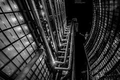 The Lloyds & Willis Building (handmiles) Tags: mono monochrome blackandwhite bw building architecture london city lloydsbuilding willisbuilding exterior night nightphoto nightphotography outdoor outside out sony sonya77mark2 sonya77m2 tamron tamron1024mm wideangle mileshandphotography2017