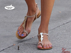 Alessandra Ambrosio Goes For the Kill (Red Neptune) Tags: celebrity giantess feet crush sandals stomp gts shrunkenman sm