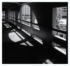 camera used: 1963 Kodak Instamatic 104 (Black and White Fine Art) Tags: kodakinstamatic1041963 rollei80s niksilverefexpro2 lightroom3 estacionamiento parking estacionamientocovadonga bn bw sanjuan oldsanjuan puertorico