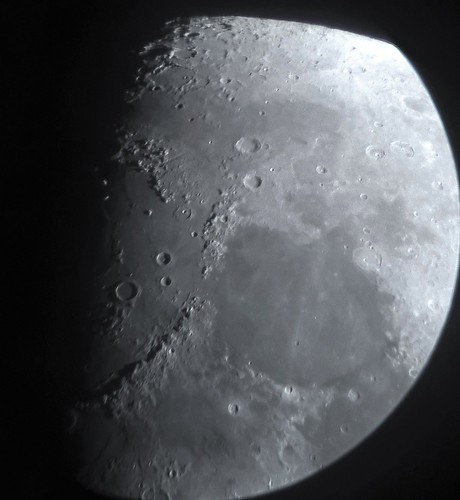 Moon Apr 4th 2017, zooming at Moon's nothern border