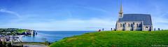 Panorama Etreta. (musette thierry) Tags: etretat falaise france normandie europe nikon d600 musette thierry vue paysage landscape new eglise chapelle
