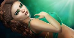 The Princess (meriluu17) Tags: sg slackgirl tealgreen teal green princess una makeup closeup face portrait sunlight fantasy magical magic people