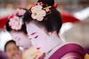 Baikasai tea ceremony performed at the Kitano Tenmangu by maikos and geikos from Kamishichiken (balbo42) Tags: baikasai kyoto 2017 maiko geiko kitano tenmangu tea xt2 geisha japan fujifilm ceremony