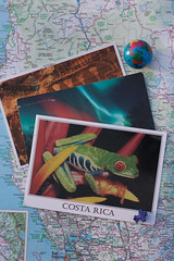 Postcard (Theresa Best) Tags: postcard travel mail snailmail letter map wanderlust theresa best sprouting visions canon theresabest canon760d canont6s canon8000d sproutingvisions colorful globe airplane plane