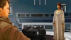Meeting With Mon Mothma (BarricadeCaptures) Tags: star wars dark forces mission ii talay tak base after massacre cutscene kyle katarn mon mothma nebulon b frigate meeting room game screenshot screencap
