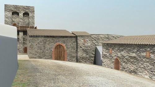 ricostruzione virtuale castello dicontignano 03