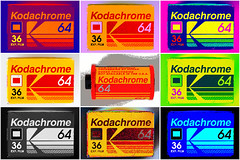 60's Kodachrome Memories (fstop186) Tags: kodachrome kodak old film 35mm asa64 36exp popart vivid colours surreal slides week10theme cassette filmcassette red yellow green blue paulsimon chrome blackandwhite crossprocessing negative kodachrome64 week10201752weeksthe2017edition box cardboard battered worn tatty vintage warhol poster giftcard postcard print