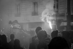 Street light (Hermann.Click) Tags: démonstration manifestation paris antifascistes mobilisation rue grève street lutte social revendication riot révolte fumigène monochrome justice dignité antifascist antifa cortège