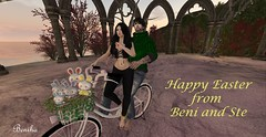 Easter with the Torvas (Ɓєηιнα ŤФƦVƛ) Tags: secondlife people couple portait easter love together mesh slink catwa duet
