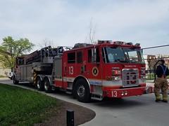 Truck 13 (MCN13) Tags: columbus ohio fire truck tiller ladder