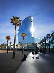 Hotel W Barcelona (carlesbaeza) Tags: barcelona catalunya catalonia travel hotel beautifulimages viajar lujo atardecer capvespre
