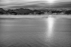 Rise above the clouds (OR_U) Tags: 2017 oru norway lofoten sea ocean water clouds mountains mist kasabian landscape bw blackandwhite blackwhite monochrome seascape