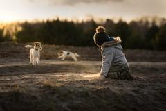 Dogs (early spring) (iwona_podlasinska) Tags: dog child spring sun outdoor hat