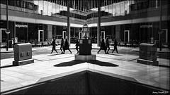 Southwark, London (zolaczakl) Tags: london southwark hollandst reflections blackandwhite monochrome mono window sculpture people figures street photographybyjeremyfennell fujix100s uk april cityscenes england jeremyfennellphotography light
