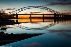 Ferry Hut (5 of 6) (andyyoung37) Tags: railwaybridge runcorn runcornbridge uk bluehour cheshire refelections rivermersey sunset england unitedkingdom gb