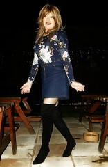 Unplanned Outfit (Amber :-)) Tags: denim mini skirt tgirl transvestite crossdressing