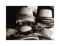 Hats, hats, hats! (Artisticus Farticus) Tags: headgear hats alicante spain ipadedit snapseed olympuspenf zuiko45mmf18