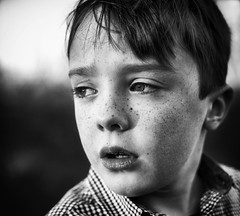 Alfie (markfly1) Tags: black white monochromatic kids son children caught unaware candid outside nikon 50mm d750