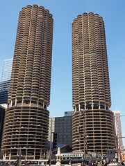 Marina City (Brule Laker) Tags: chicago illinois flowers macys marshallfields downtown olympusom