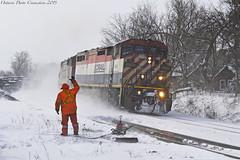 4621 (ontario photo connection) Tags: canadiannationalrailway cn winter railroad railway rails train locomotive locomotives balasub quaker stouffville gormley
