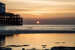 As the sun meets the sky (judethedude73) Tags: sussex sunrise skies sea beach beaches pier coast coastal reflection reflections