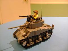 Lego custom Sherman M4A4 2nd prototype (tekmoc17) Tags: tank ww2 sherman m4a4 lego custom moc minifigure usa war