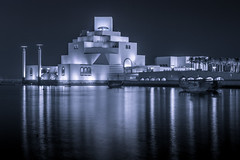 Lights & Reflections! (aliffc3) Tags: artistic architecture reflections water nikond750 nikon70200f4 doha qatar nightshot museumofislamicart travel tourism