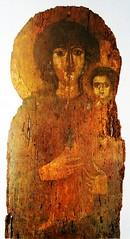 """Virgin Mary Odigìtria"" - Roman-Byzantine icon (year 609) at Pantheon in Rome (Carlo Raso) Tags: icon virginmary rome italy pantheon"