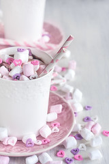 Hot chocolate with marshmallow background (Speleolog) Tags: marshmallow winter mug food cocoa holiday sweet christmas hot chocolate drink cup beverage breakfast dessert wooden rustic warm table milk candy cream gourmet snack background decoration delicious foam life melting coffee comfort liquid tasty xmas dairy cinnamon red froth cacao break year indulgence relaxation festive brown pink heart romantic valentine