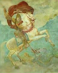 Heiliger Georg auf dem weißen Rößle ○ Saint George on a white Horse (eagle1effi) Tags: rottweil whitehorse weisesrösle georg george saintgeorge malerei lüftlmalerei fassade fassadenmaleri inn gasthof metzgerei