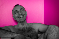 smile in the bathroom - Rigolade dans la baignoire (♥Dany_de_Paris♥) Tags: fkk nu nude naturist male homme poilu bear senior peludo hairy naked smile sourire
