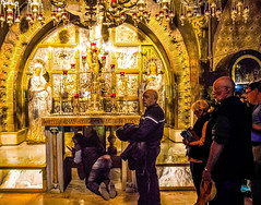 (kissing) The Altar of the Crucifixion (werner boehm *) Tags: churchoftheholysepulchre wernerboehm jerusalem israel religion thealtarofthecrucifixion