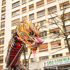 Nouvel an chinois (Lionelcolomb) Tags: xiii ° arrondissement canon sigma paris îledefrance france fr fête happy street celebration new year chinese dragon mythologie creature legend