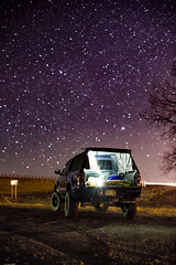 Leave the Light On (Zach Dischner) Tags: 2016 adventure aerospace bigsky driving ieee roadtrip tacoma road trip fun toyota taco night stars starry light painting dark sky star cool