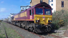 66023 at Hamworthy (David Blandford photography) Tags: 66023 hamworthy 6v52 whatley quarry stone train db cargo dbcargo dbc dorset