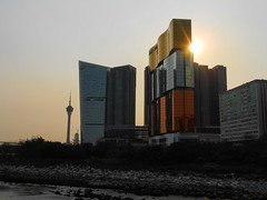 Sunset behind the MGM (gavindeas) Tags: places china macau macao 中国 中國 澳門 澳门 macautower buildings casino